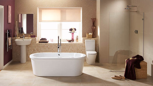 Bathroom installation tiling plastering services Bathroom design service cardiff